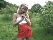 british blonde girl flashing
