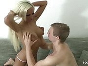 German Tight Tini Caught Step Brother Wank and Help with Sex