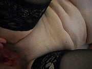 Fucking, spreading and showing hairy cunt for cum